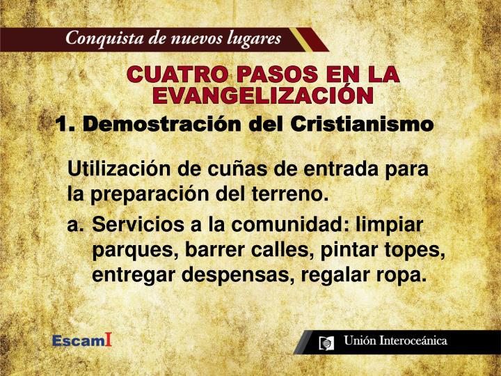 CUATRO PASOS EN LA EVANGELIZACIÓN