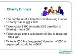 charity dinners