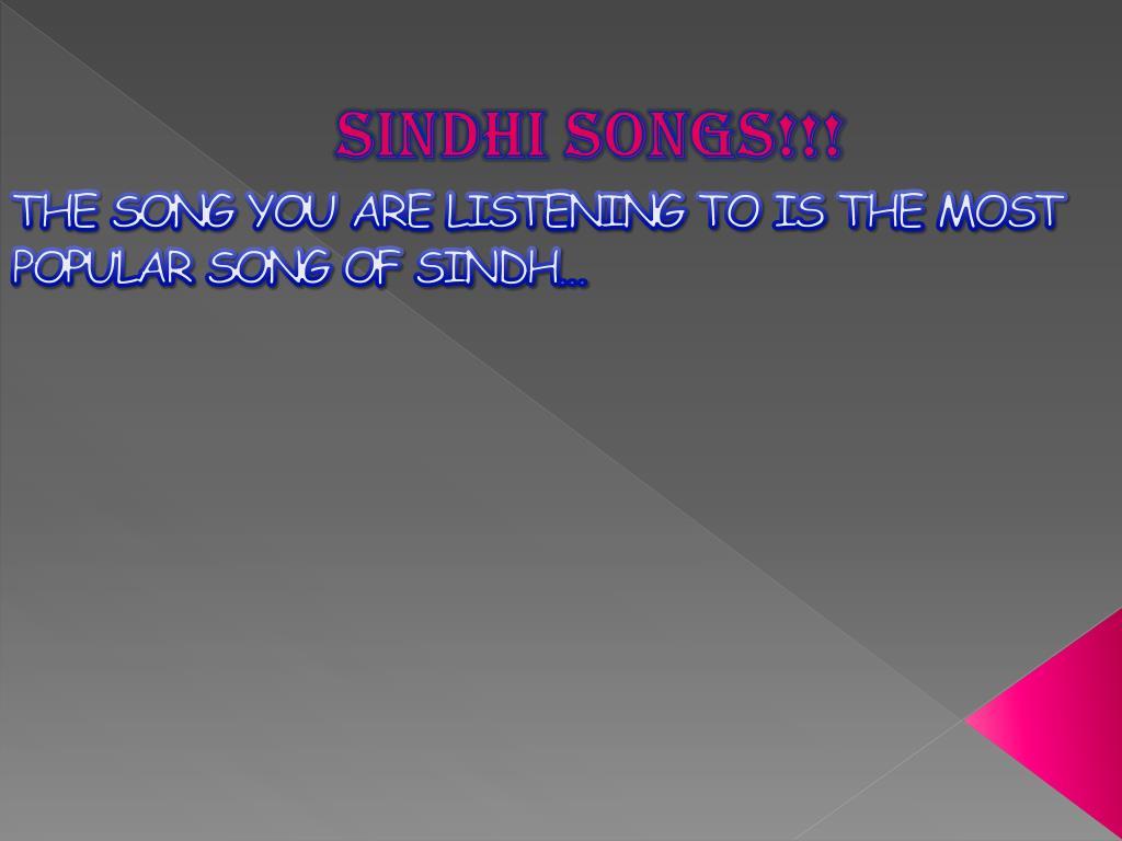 PPT - SINDH PowerPoint Presentation - ID:2153579