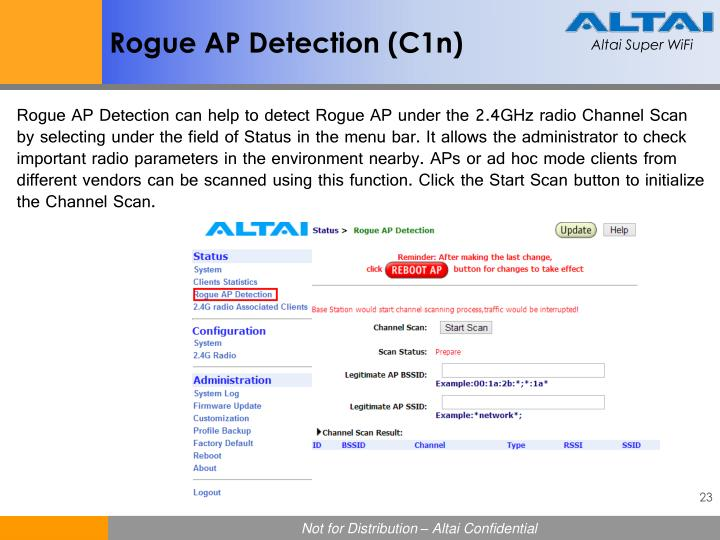 Rogue AP Detection (C1n)