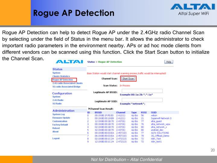 Rogue AP Detection