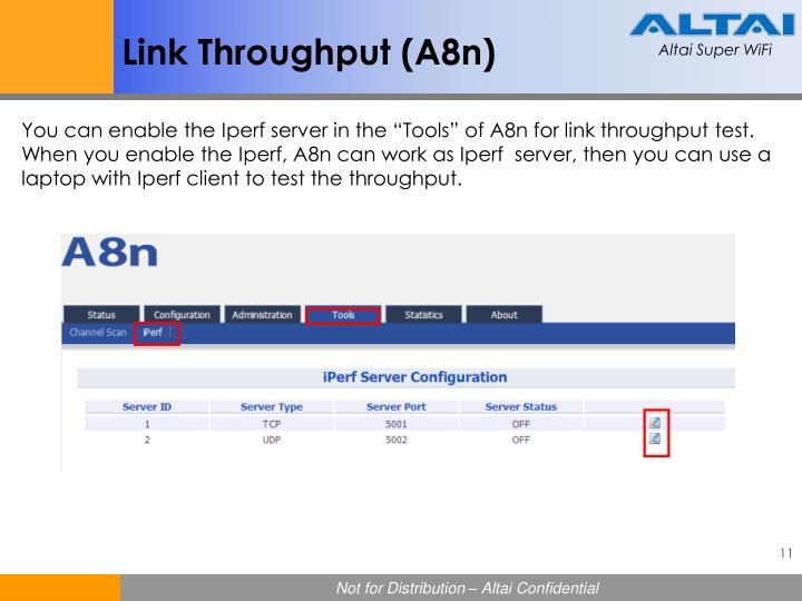 Link Throughput (A8n)