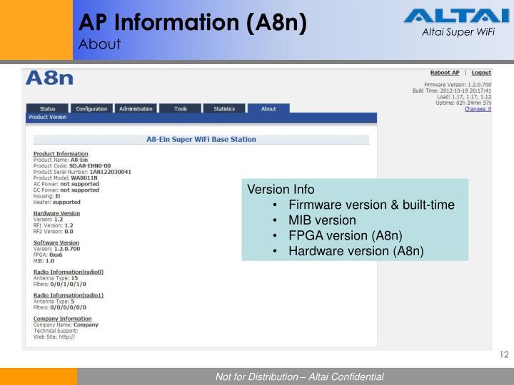 AP Information (A8n)
