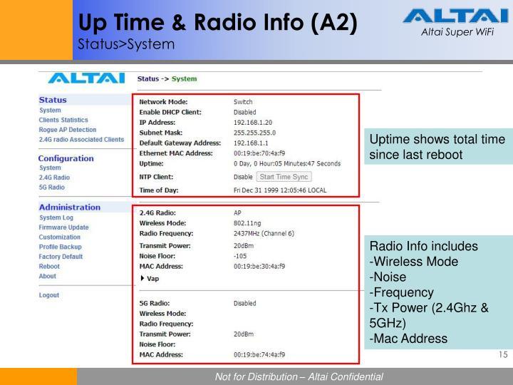 Up Time & Radio