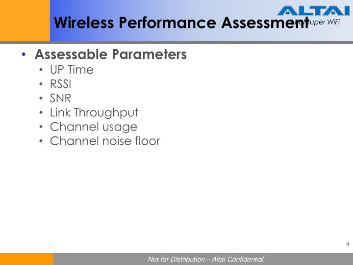 Wireless Performance Assessment