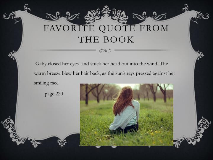 Favorite quote from the book