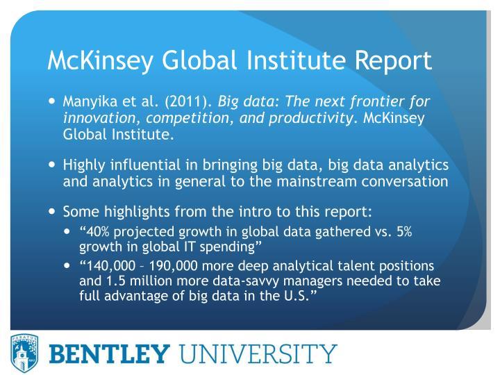 Mckinsey global institute report