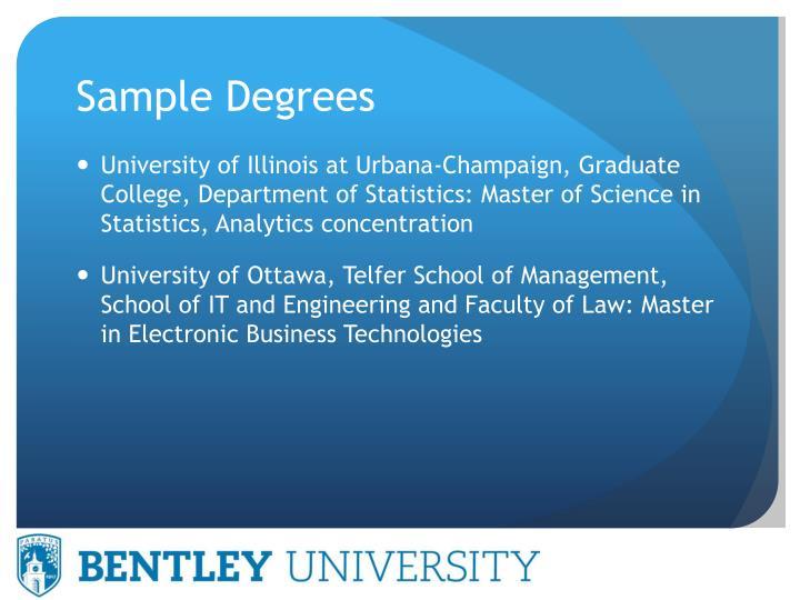Sample Degrees