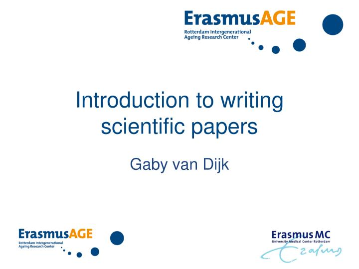 determine authorship scientific papers 1 introduction a research paper communicates scientific work to a wide audience without publishing results, the important data collected, analyzed, and interpreted is inaccessible to the scientific community and hence of little or no value.