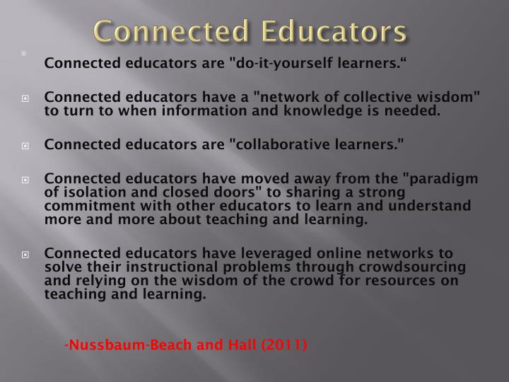Connected Educators