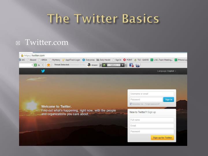 The Twitter Basics
