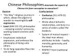 chinese philosophies dominate the aspects of chinese art from conception to execution