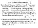 central limit theorem clt
