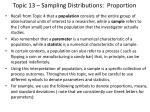topic 13 sampling distributions proportion