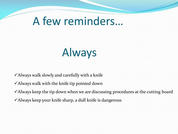 Ppt Knife Safety Powerpoint Presentation Id 2154006