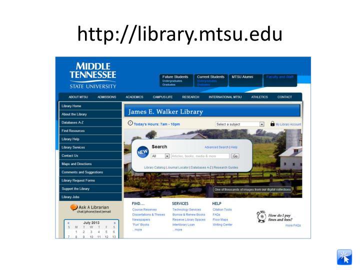 Http library mtsu edu