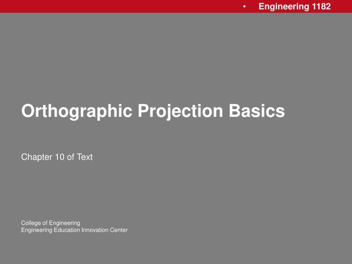 orthographic projection basics n.