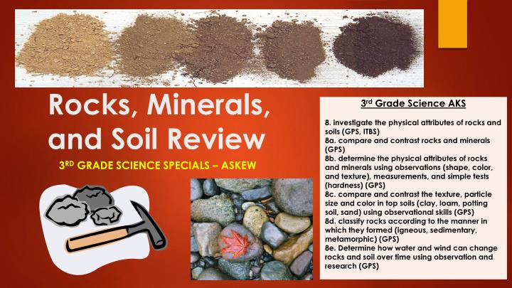 rocks minerals and soil review n.