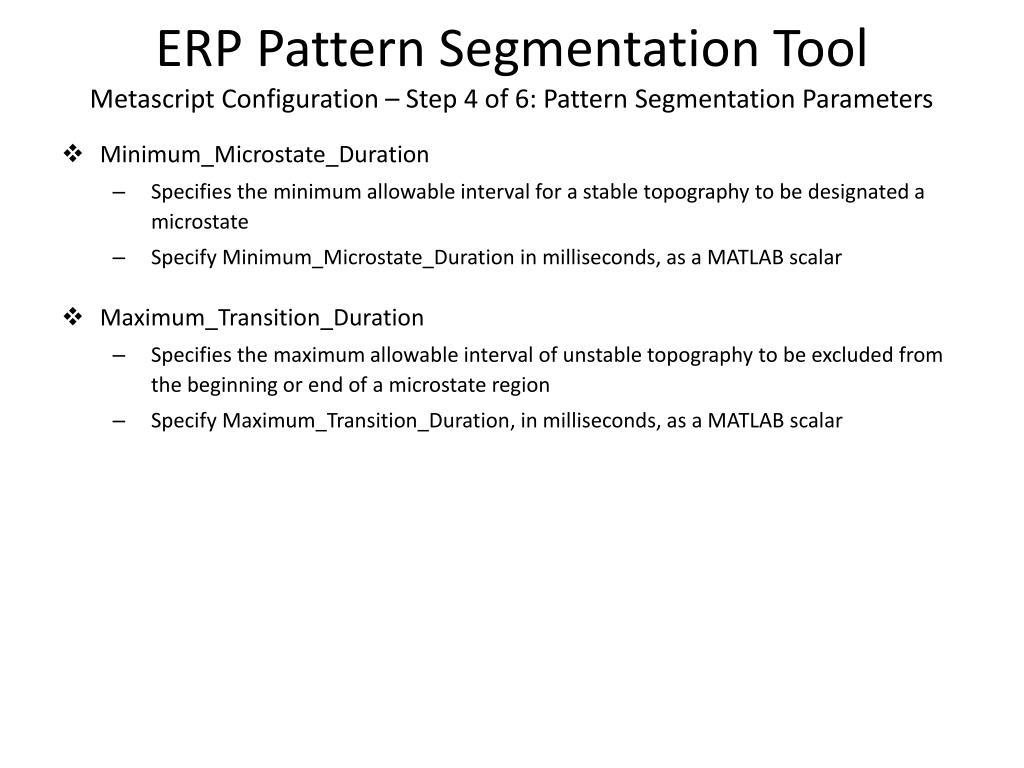 PPT - NEMO ERP Analysis Toolkit ERP Pattern Segmentation