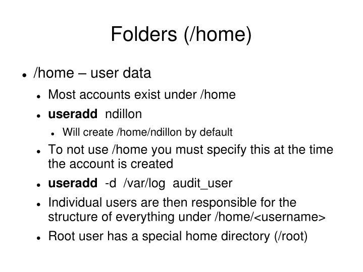 Folders (/home)