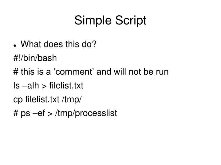 Simple Script