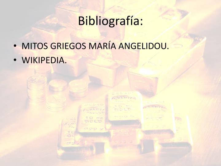 Bibliografía: