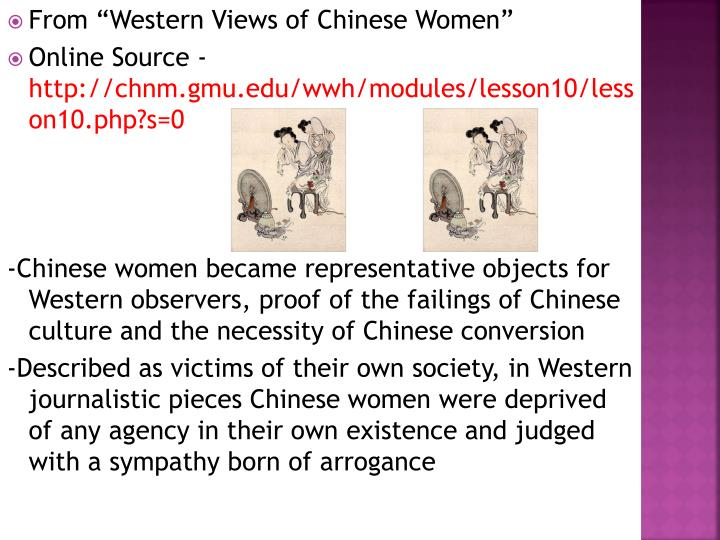 """From """"Western Views of Chinese Women"""""""