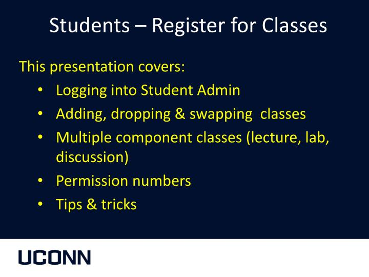 students register for classes n.