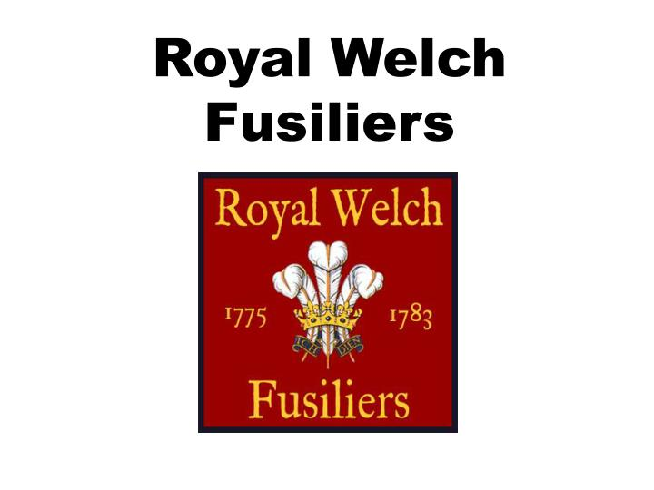 royal welch fusiliers n.