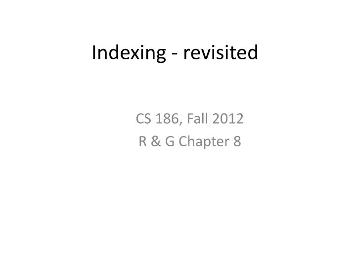 indexing revisited n.