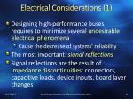 electrical considerations 1