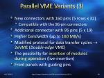 parallel vme variants 3