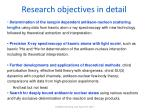 research objectives in detail