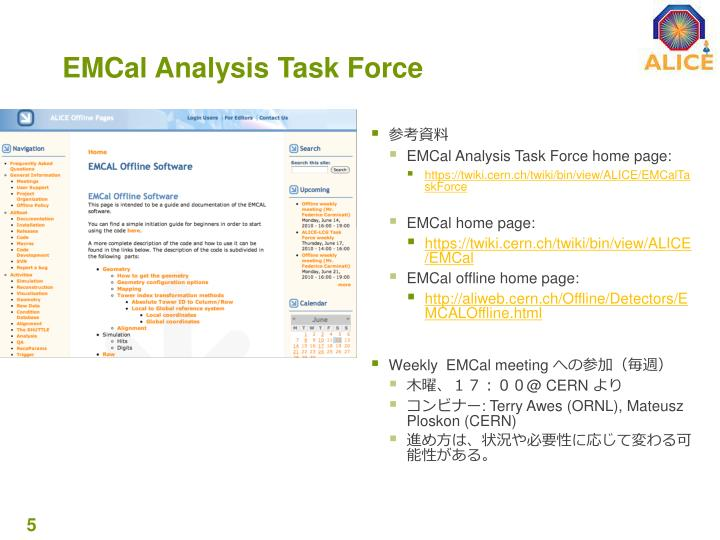 EMCal Analysis Task Force