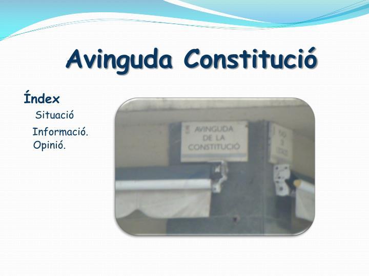 Avinguda Constitució