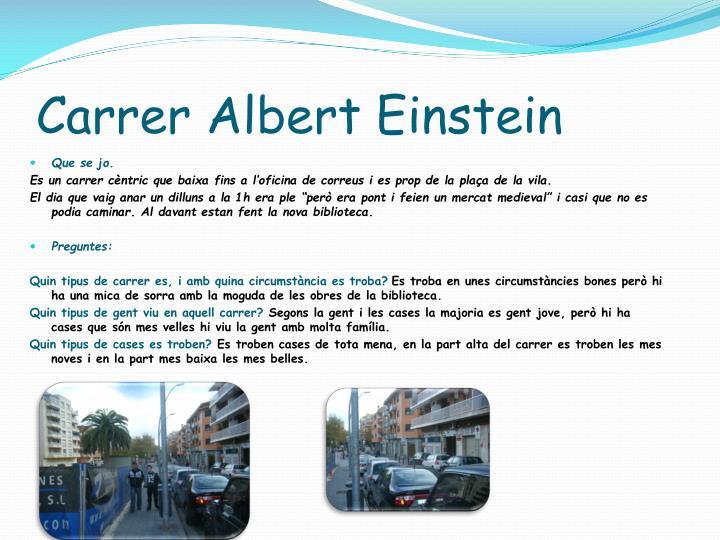 Carrer Albert Einstein