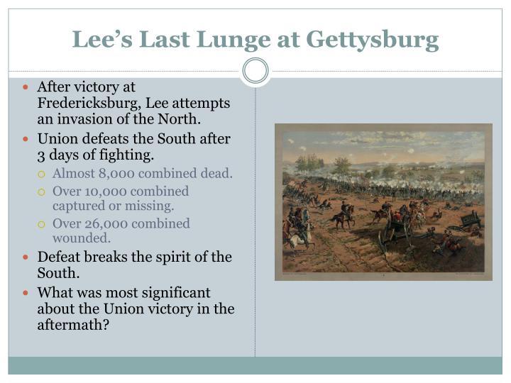 Lee's Last Lunge at Gettysburg