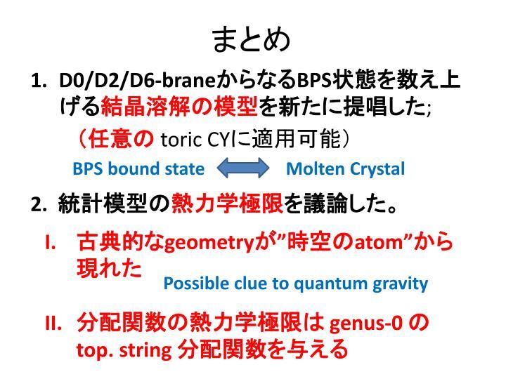 PPT - 結晶の溶解模型 と BPS 状...