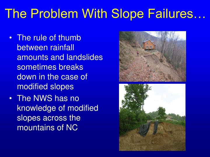 The Problem With Slope Failures…