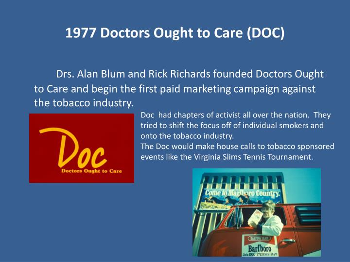 1977 Doctors Ought to Care (DOC)