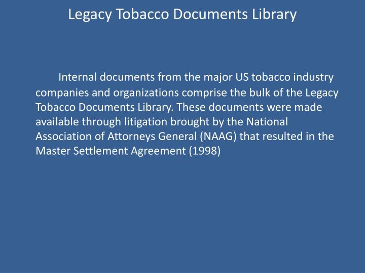 Legacy Tobacco Documents Library