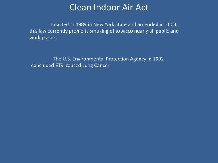 Clean Indoor Air Act