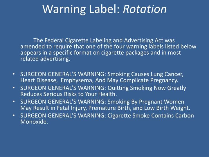 Warning Label: