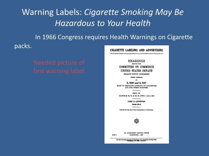 Warning Labels: