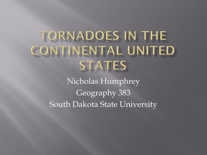 tornadoes in the continental united states n.