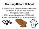 morning before school1