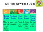 my plate new food guide