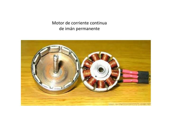 Motor de corriente continua de imán permanente