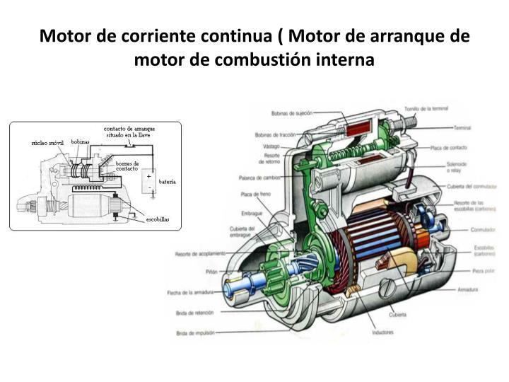 Motor de corriente continua ( Motor de arranque de motor de combustión interna