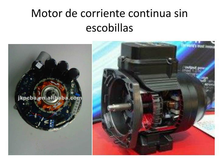 Motor de corriente continua sin escobillas